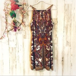 INC Paisley Print Sleeveless Dress
